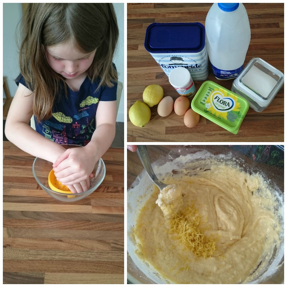 making a lemon drizzle cake