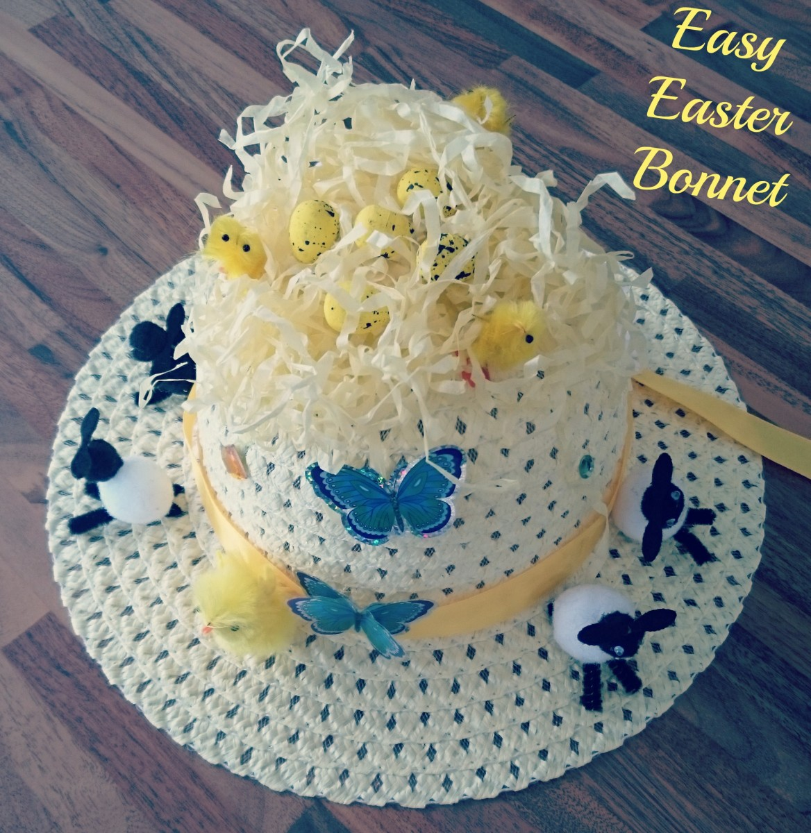 easy easter bonnet complete